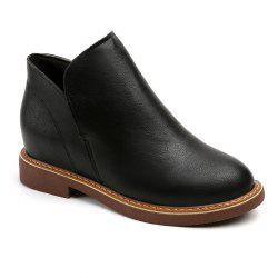 New Round Head Thick and Short Comfortable Boots -