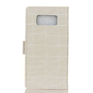 Vintage Crocodile Pattern PU Leather Wallet Case for Samsung Galaxy S8 Active -