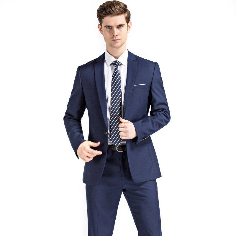 Shop Men's Wedding Suit Sets Formal Fashion Slim Fit Business Dress Suits