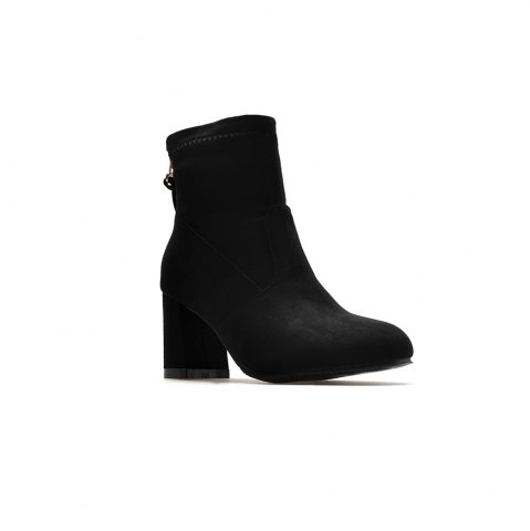 Buy Fashion Zipper Heel  Woman Short Boots