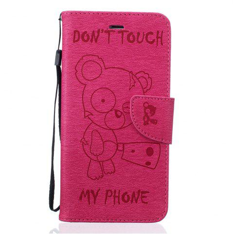 Latest Little Bear Embossed Wallet Flip PU Leather Card Holder Standing Phone Case for iPhone 6 Plus / 6s Plus