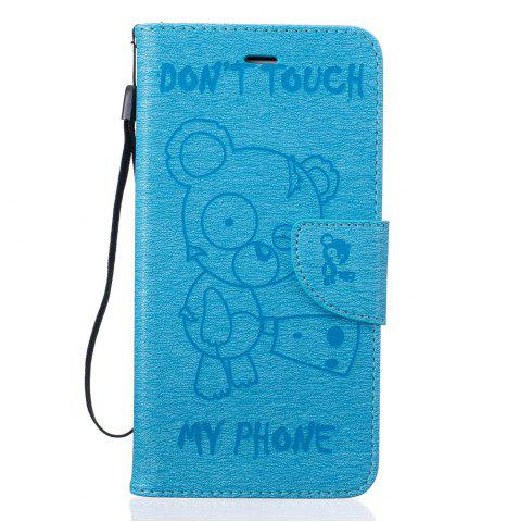 Trendy Little Bear Embossed Wallet Flip PU Leather Card Holder Standing Phone Case for iPhone 6 Plus / 6s Plus