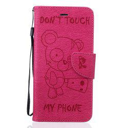 Little Bear Embossed Wallet Flip PU Leather Card Holder Standing Phone Case for iPhone 6 Plus / 6s Plus -