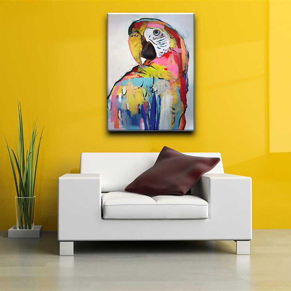 Colormix 60 X 90cm Yhhp Hand Painted Parrot Canvas Oil Painting For ...