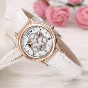BAOGELA 1607 Trendy Casual Leather Women Quartz Watch -