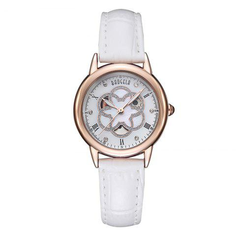 Outfits BAOGELA 1607 Trendy Casual Leather Women Quartz Watch
