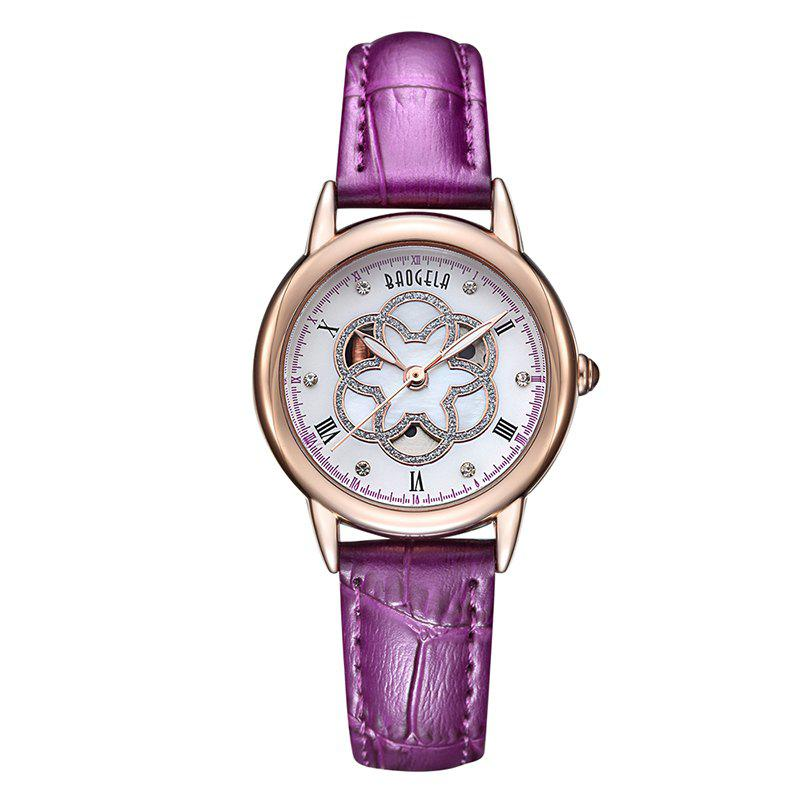 Best BAOGELA 1607 Trendy Casual Leather Women Quartz Watch