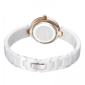 BAOGELA 1608 Waterproof Trendy Ceramic Band Women Quartz Wristwatch -