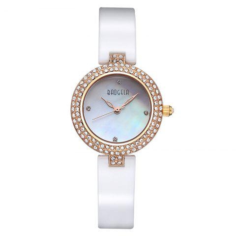 Shop BAOGELA 1608 Waterproof Trendy Ceramic Band Women Quartz Wristwatch