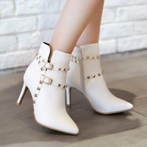 Pointed Thin Heel Sexy Boots with High Heel -