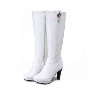 Round Head Heel High Heel Sexy Knight Boots -