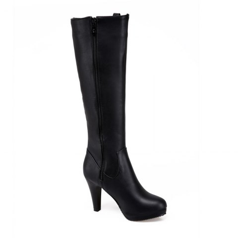 Shop Round Head Heel High Heel Sexy Knight Boots