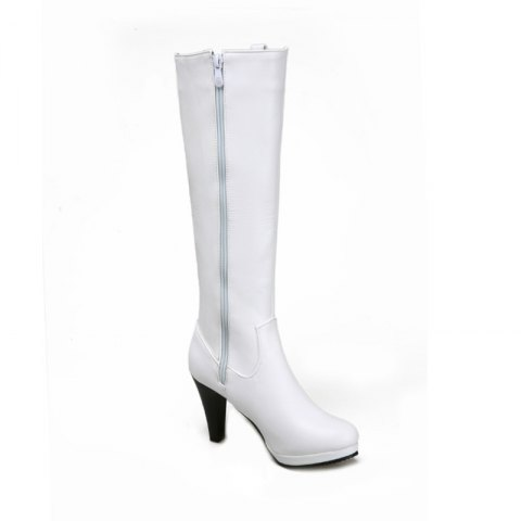 Affordable Round Head Heel High Heel Sexy Knight Boots