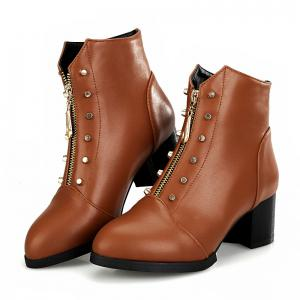 Sharp Heel and Fashion Spike Short Boots -