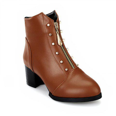 Affordable Sharp Heel and Fashion Spike Short Boots
