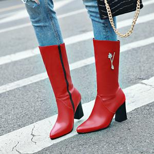 Pointed and High Heeled Fashion Knight Boots -