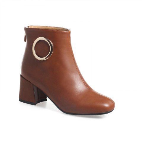 Unique Square with Thick and All-Match Short Boots