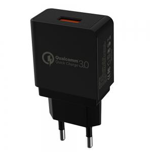 XY-GS-551 European Mobile Phone Charger Single USB Interface 18W Travel Charge -