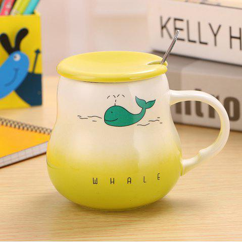 Chic 400Ml Cute Cartoon Creative Gradient Ceramic Cup