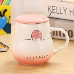 400Ml Cute Cartoon Creative Gradient Ceramic Cup -