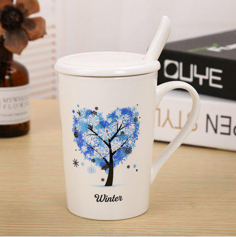 Shop 400ML Dumb Light of Four Seasons Tree Ceramic Cup