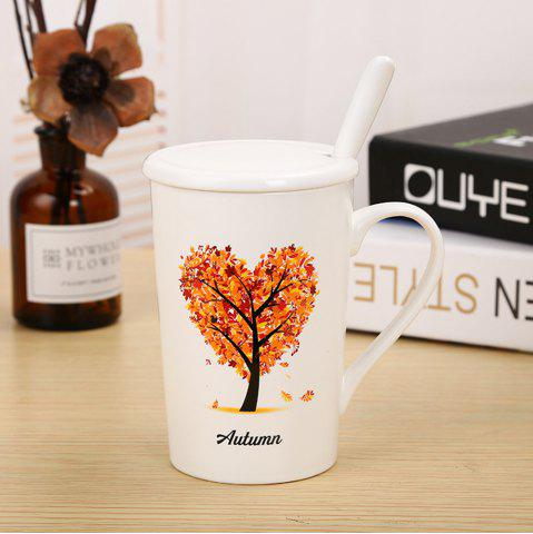 Online 400ML Dumb Light of Four Seasons Tree Ceramic Cup