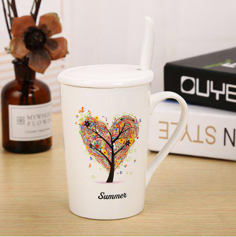 Store 400ML Dumb Light of Four Seasons Tree Ceramic Cup