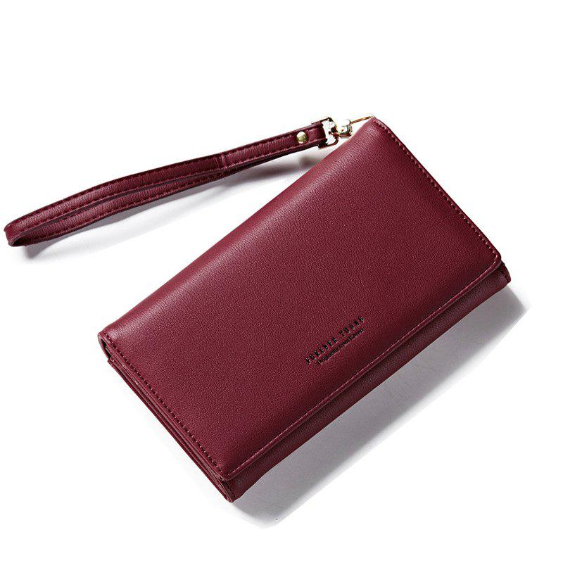 Outfit Fashion Women Long Clutch Wallet Ladies Pu Zip Female Card Holder Coin Purse
