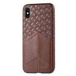 Ultra Slim Credit Card Slots Shockproof Protective Skin Cover Case for iPhone X -