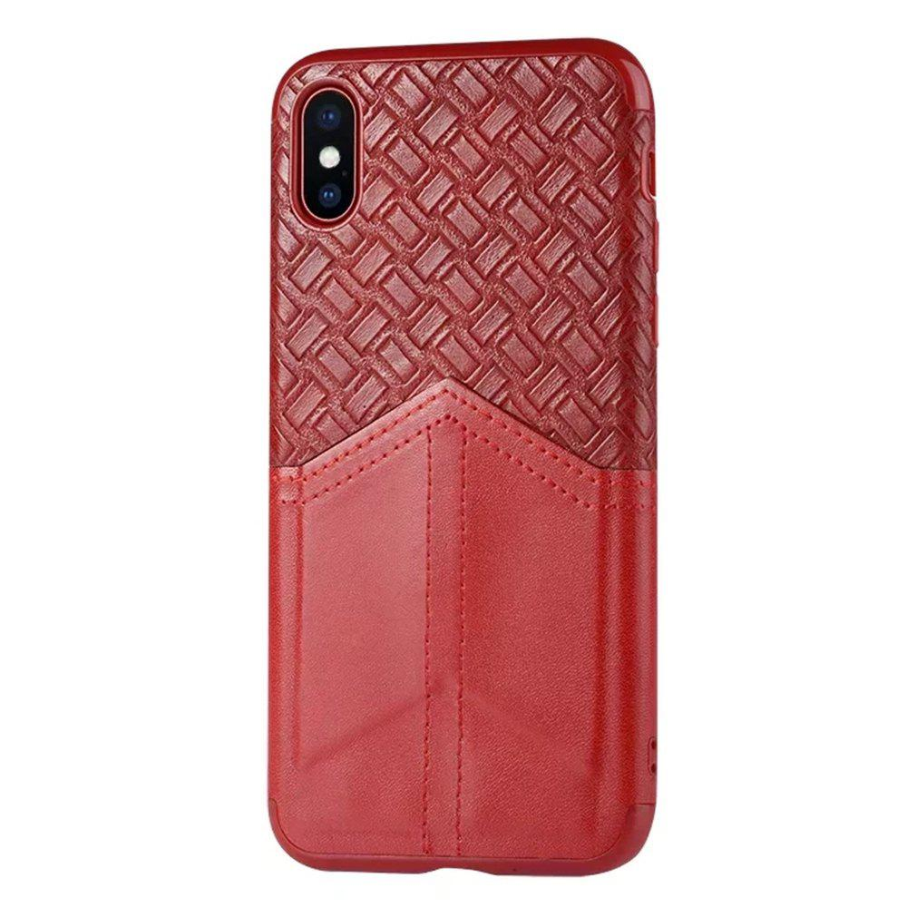 Trendy Ultra Slim Credit Card Slots Shockproof Protective Skin Cover Case for iPhone X