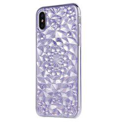 Soft Flexible TPU Rubber Diamond Bling Glitter Protective Case Cover for iPhone X -