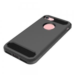 Carbon Fiber 2 In 1 Soft Tpu Protector Phone Case for iPhone 7 -