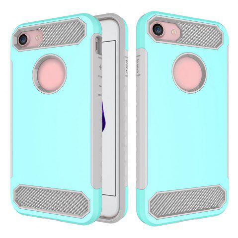 Outfits Carbon Fiber 2 In 1 Soft Tpu Protector Phone Case for iPhone 7