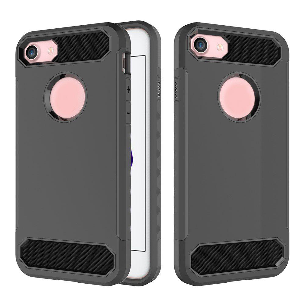 Online Carbon Fiber 2 In 1 Soft Tpu Protector Phone Case for iPhone 7