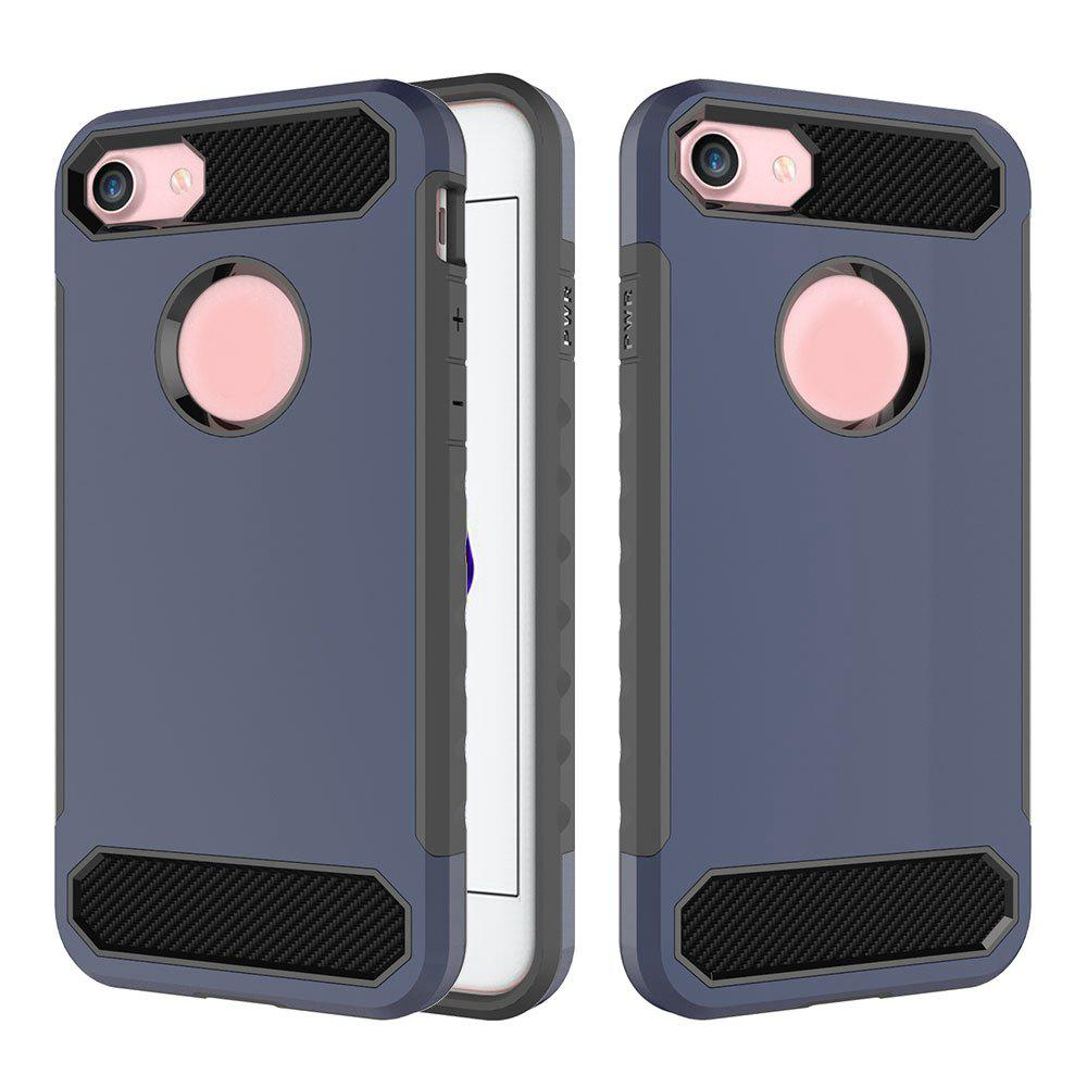 Chic Carbon Fiber 2 In 1 Soft Tpu Protector Phone Case for iPhone 7