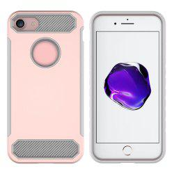 Carbon Fiber 2 In 1 Soft Tpu Protector Phone Case for iPhone 8 -