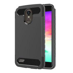Carbon Fiber 2 In 1 Soft Tpu Protector Phone Case for LG Stylo 3 -
