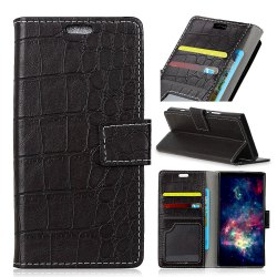 Vintage Crocodile Pattern PU Leather Wallet Case for iPhone 8 Plus -