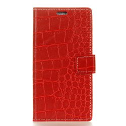 Vintage Crocodile Pattern PU Leather Wallet Case for Moto Z2 Force 2017 -