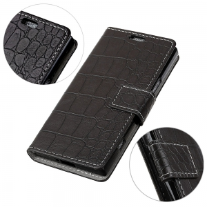 Vintage Crocodile Pattern PU Leather Wallet Case for Xiaomi Redmi Note 4X -