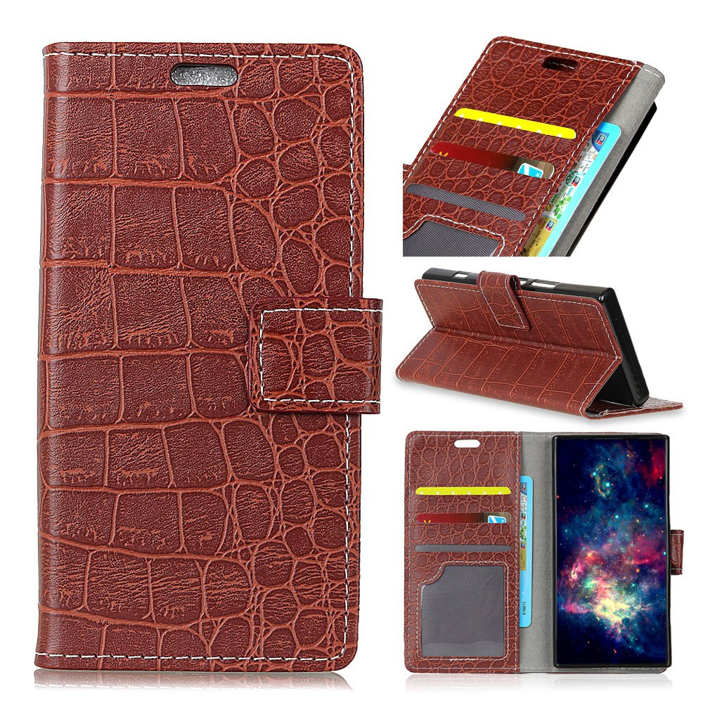 Shops Vintage Crocodile Pattern PU Leather Wallet Case for Xiaomi Redmi Note 4X