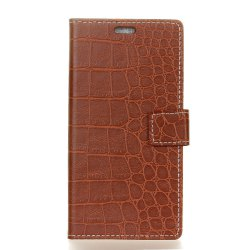 Vintage Crocodile Pattern PU Leather Wallet Case for Huawei Honor 6A -