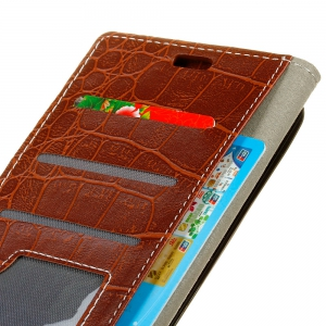Vintage Crocodile Pattern PU Leather Wallet Case for Huawei Y3 2017 -