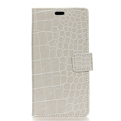 Fashion Vintage Crocodile Pattern PU Leather Wallet Case for Huawei Y6 2017