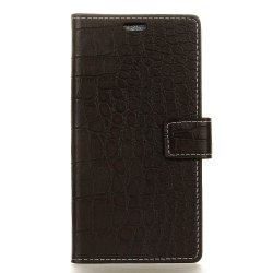 Vintage Crocodile Pattern PU Leather Wallet Case for Huawei Y6 2017 -