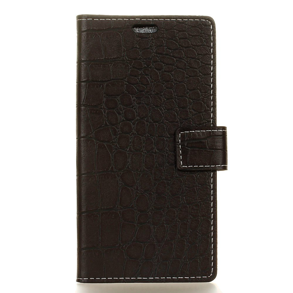 Cheap Vintage Crocodile Pattern PU Leather Wallet Case for Huawei Y6 2017