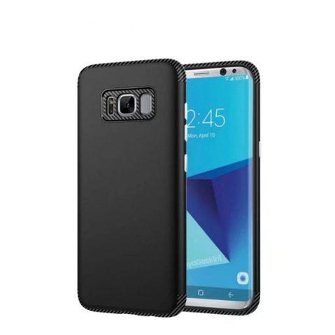 Fancy Luxury Shockproof Back Cover Carbon Fiber TPU + PC Protective for Samsung Galaxy S8 Plus