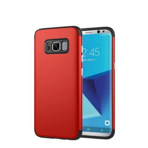 Trendy Luxury Shockproof Back Cover Carbon Fiber TPU + PC Protective for Samsung Galaxy S8 Plus