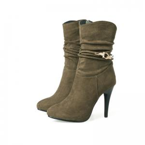 The Spires with High Heels and Sexy Suede Boots -