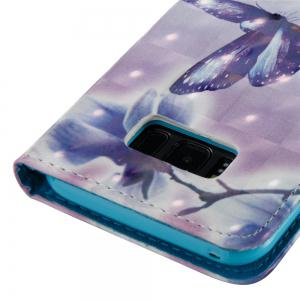 3D Painted Butterfly Leather Case for Samsung Galaxy S8 Plus -